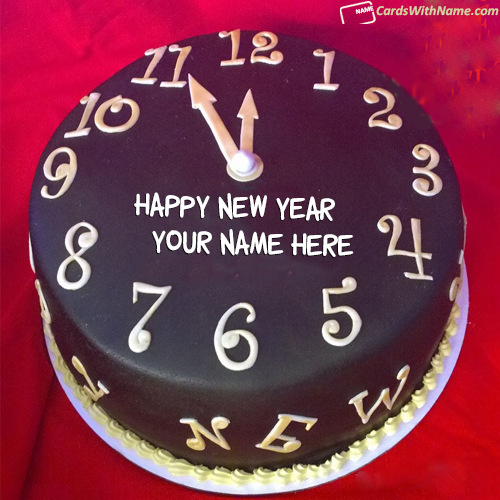 Amazing New Year Countdown Cake With Name Maker