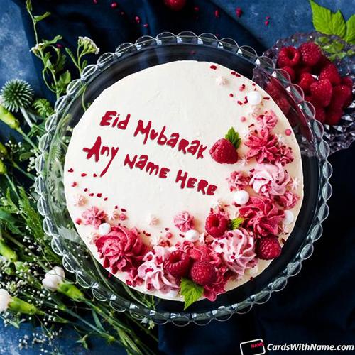 Beautiful Eid Greetings Cake With Name