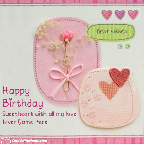 Beautiful Name Birthday Wishes Cards For Lovers