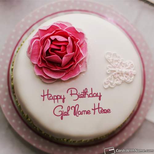 Beautiful Rose Birthday Cake For Girl Name Generator