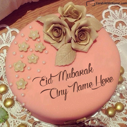 Best Eid Mubarak Cake With Name Edit