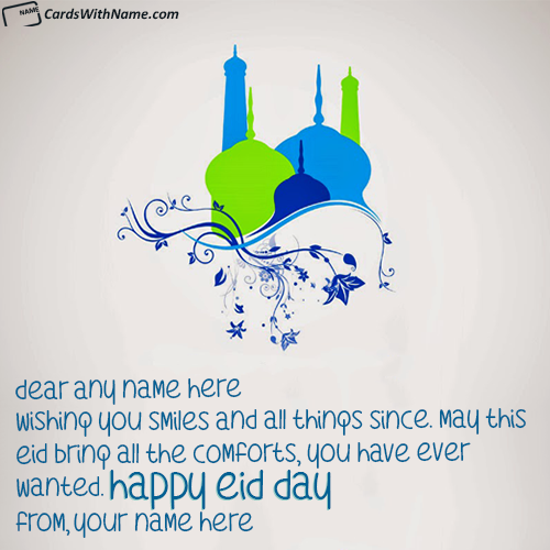 Best Happy Eid Mubarak Wishes With Name Editor