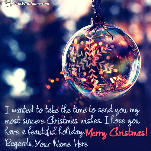 Best Merry Christmas Greeting Cards With Name Generator