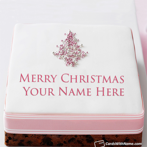 Best Merry Christmas Wishes Cake Images With Name