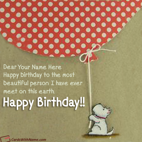 Best Online Birthday Card With Name Generator