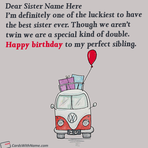 Best Sister Birthday Quotes With Name Editing
