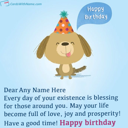 Best Wish Happy Birthday Quotes With Name Editing