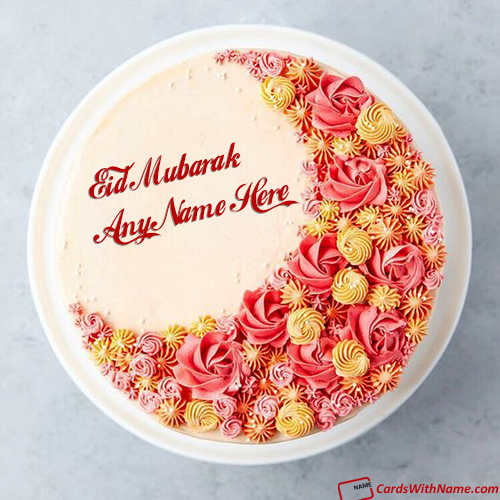 Best Wishes Eid Cake With Name Generator