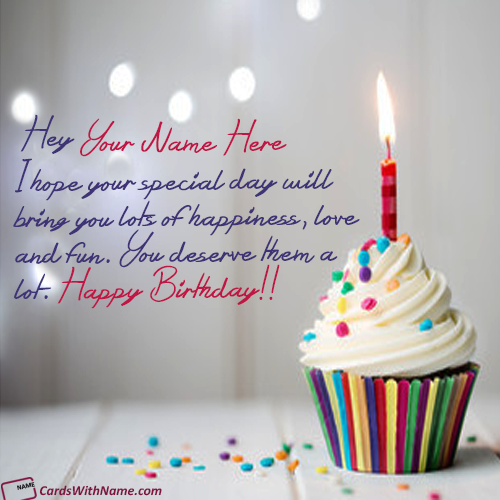 Birthday Wishes Cupcake Ideas With Name Editing