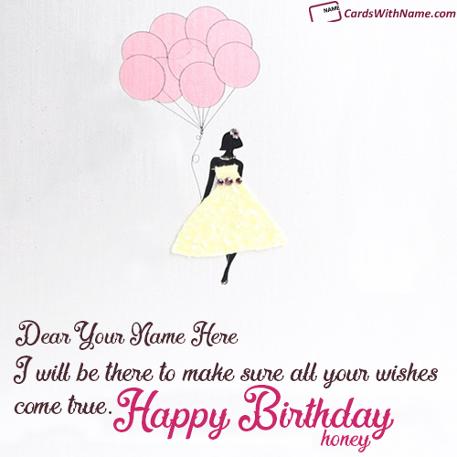 Birthday Wishes For Girlfriend With Name Editing