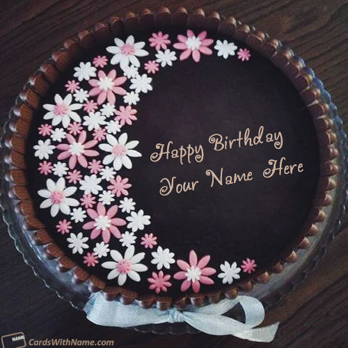 Chocolate Birthday Cake With Name Generator For Boy