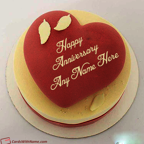 Classic Marriage Anniversary Cake With Name Editor