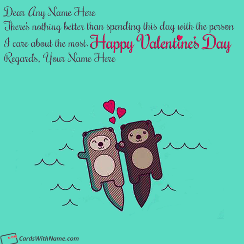 Cute Couple Love Images For Valentine With Name