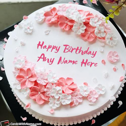 Cute Girly Birthday Cake With Name Generator