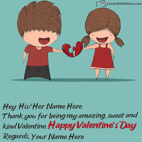 Cute Valentine Day Love Messages With Name Generator