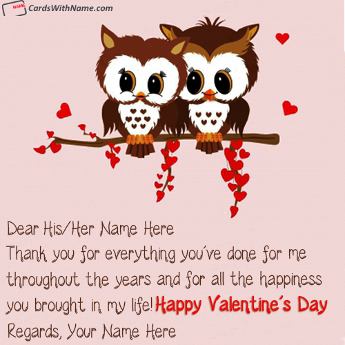 Cutest Valentine Wishes For Love Couple With Name