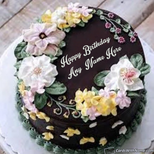 Download Beautiful Happy Birthday Cake With Name Edit
