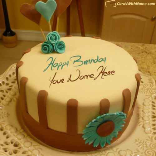 Edit Online Birthday Cake For Friend With Name