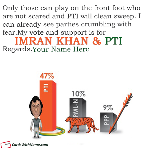 Election Support For PTI Lovers With Name Maker