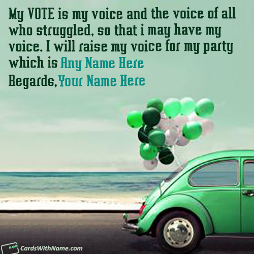 Election Wishes For Any Political Party With Name