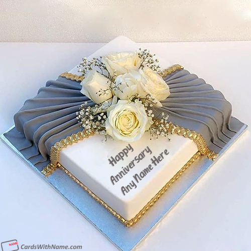 Flower Happy Anniversary Cake For Sister And Brother In Law