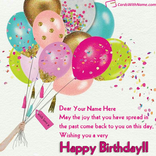 Free Birthday Greeting Card With Name Editing