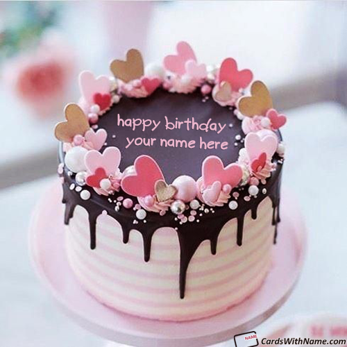Free Happy Birthday Chocolate Cake With Name Editor