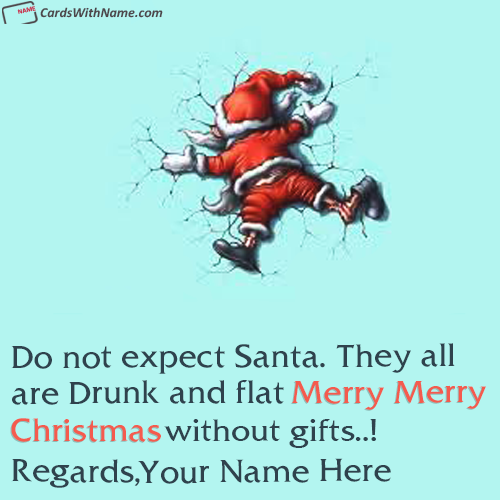 Funny Christmas Wishes Card With Name Generator