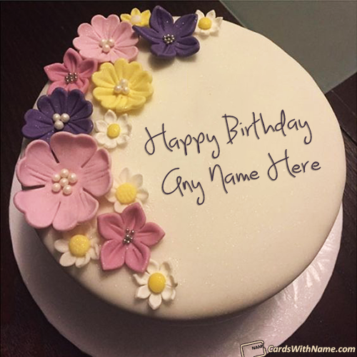 Gorgeous Happy Birthday Cake With Name Free Download