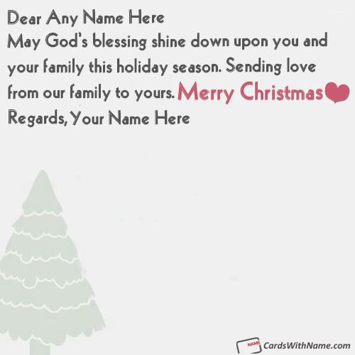 Handmade Christmas Greeting Cards With Name Editing