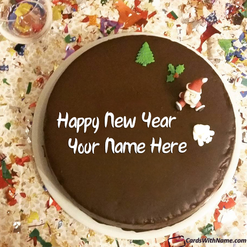 Happy New Year Cake Design Ideas With Name Maker