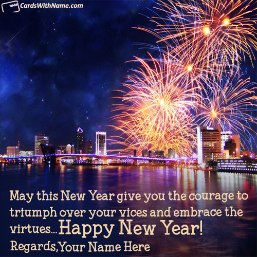 Happy New Year Wishes Messages With Name Maker