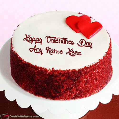 Happy Valentine Day Cake Name Photo Editing