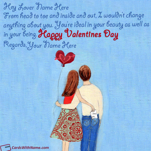 Happy Valentine Day Wishes For Lover With Name