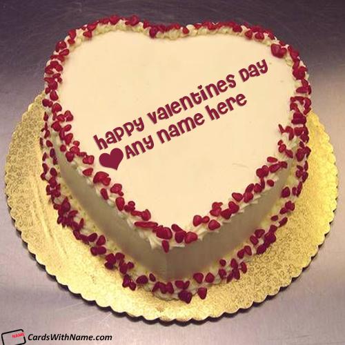 Heart Valentine Cake With Name Generator
