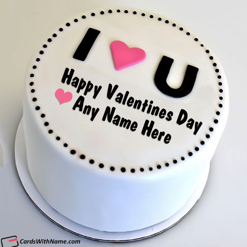 I Love You Best Valentine Cake With Name Edit