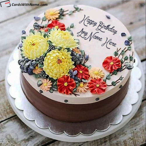 Lover Happy Birthday Cake With Name And Photo Edit