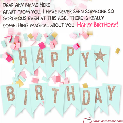 Magical Birthday Greeting Card With Name Photo