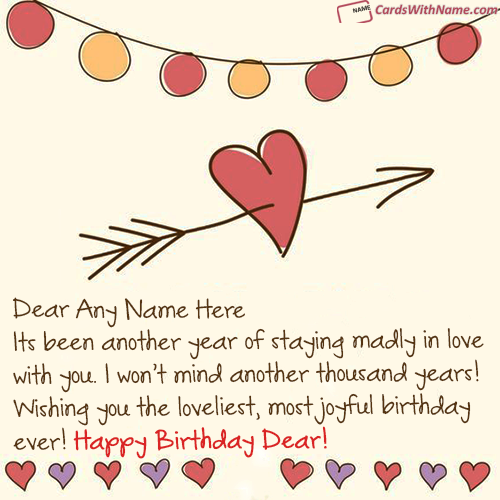 Magical Love Birthday Wishes With Name Maker