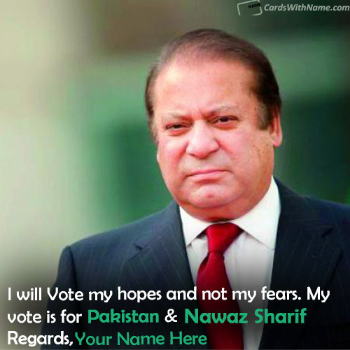 Nawaz Sharif Will Win Election Support With Name