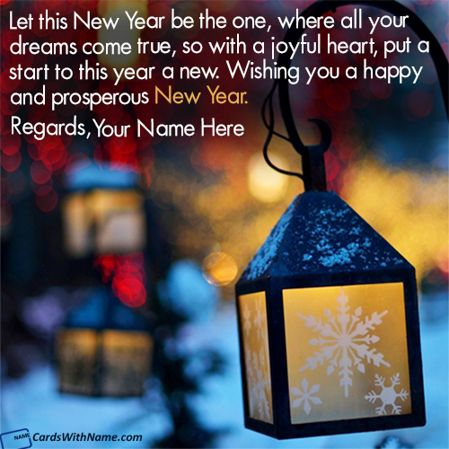 New Year Wishes Greetings Images With Name Generator