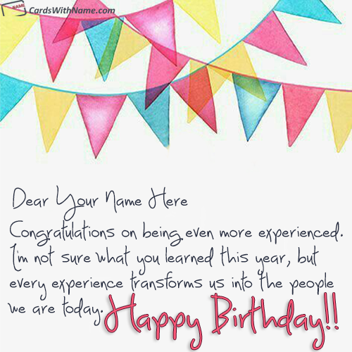 Online Birthday Card Maker With Name Photo