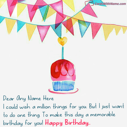 Online Birthday Wishes With Name Photo Maker