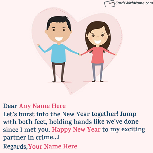 Romantic New Year Wishes Messages for Boyfriend With Name