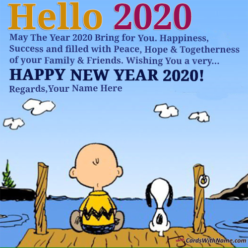 Say Hello 2020 Best Status Quotes With Name Editor