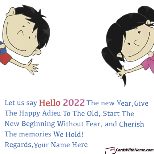 Say Hello 2021 Greeting Messages With Name Editor