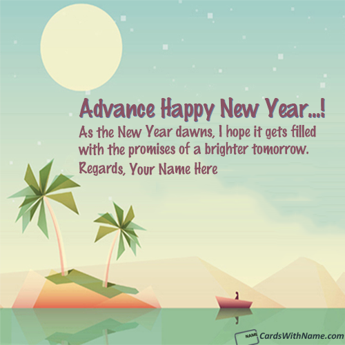 Send Happy New Year Wishes With Name In Advance