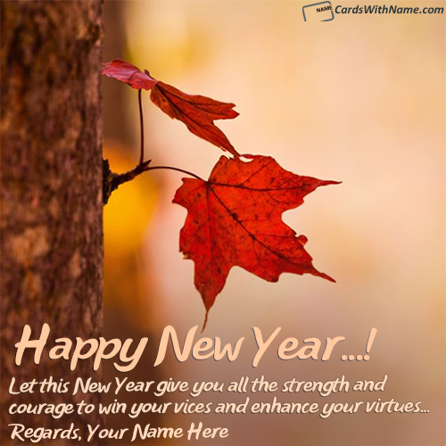 Send Online Happy New Year Messages With Name Maker