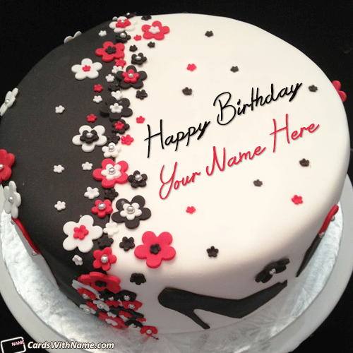 Stylish Birthday Cake For Girl With Name Edit