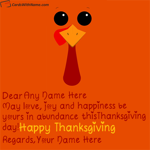 Thanksgiving Greetings Quotes With Name Edit